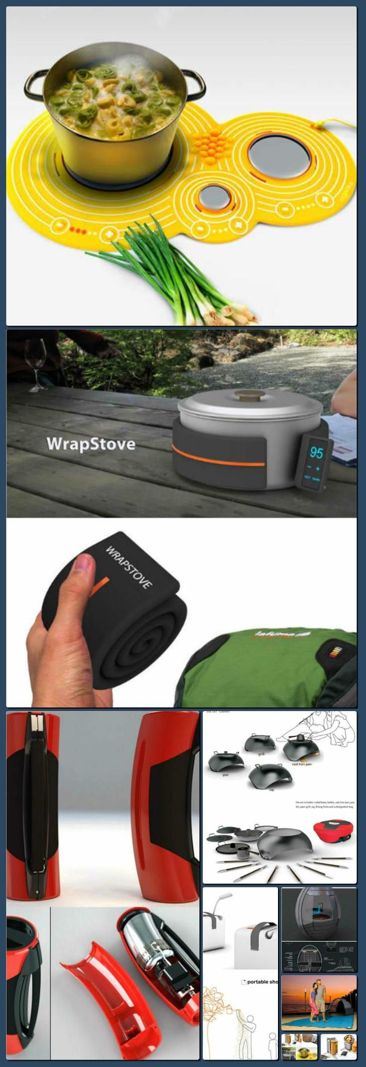 The Future of Camping: 13 Cool, Clever & Offbeat Gadgets | WebEcoist [Collage made with one click using http://pagecollage.com] #pagecollage
