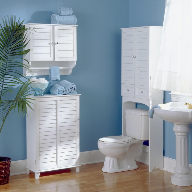 For New Bathroom? Louvered Bathroom Space Saver | World Market