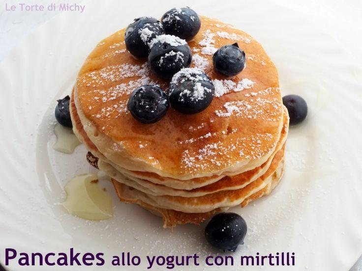 Pancakes senza uova allo yogurt e mirtilli | Le Torte di Michy