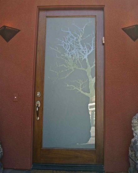 Etched glass front door. Beautiful.