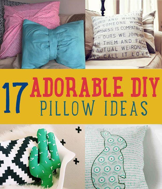 17 Adorable DIY Pillow Ideas