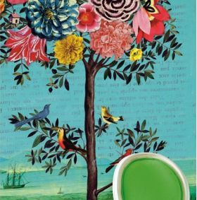 Fastastree Mural - Ivory Tower Decor wallpaper, beautiful and bold illustrations.