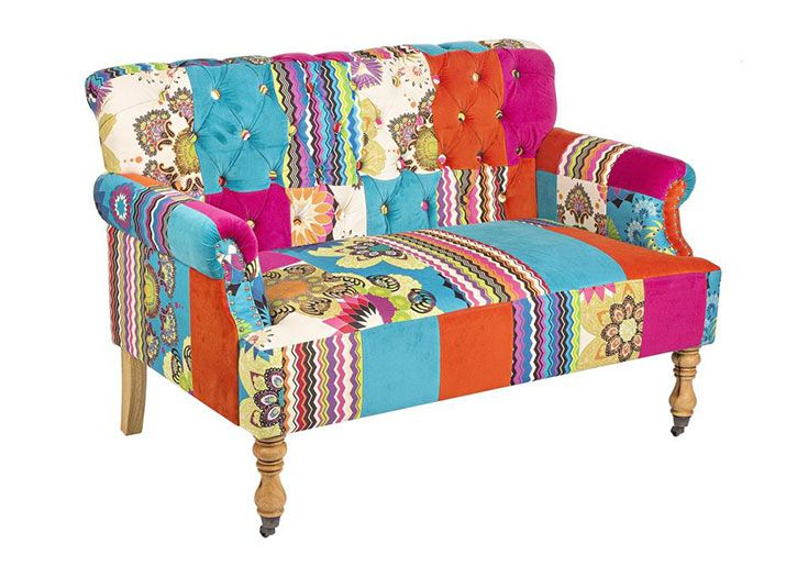 Sofas Fabric Sofas Sale Faustin Patch Sofa 2 Seater Sofa Decor Living Room Sofa Design Funky Sofa