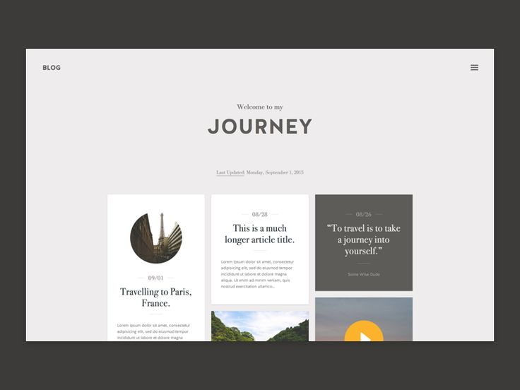 Started to design a tumblr theme around the idea of travel. Still rough around the edges, but hoping I can continue to work on it in the coming days.