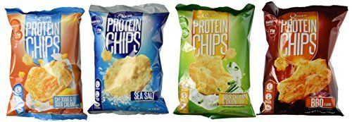 Quest Nutrition Protein Chips, Variety Pack Including BBQ, Sea Salt, Cheddar & Sour Cream, & Sour Cream & Onion, 8 Bags  Quest Nutrition Protein Chips, Variety Pack Including BBQ, Sea Salt, Cheddar & Sour Cream, & Sour Cream & Onion, Pack of 8, 2 Bags of Each ...