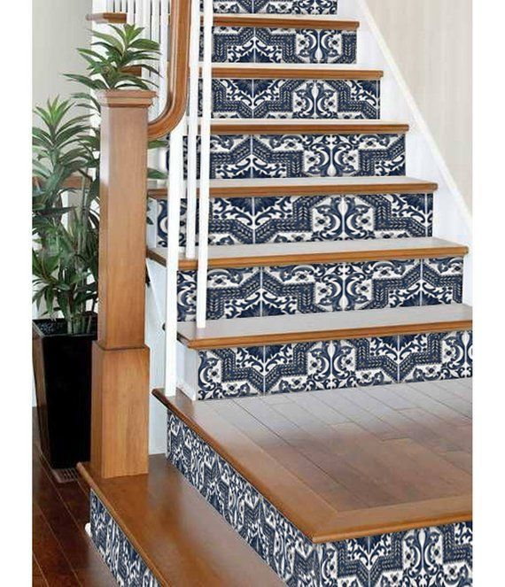 Removable Stair Riser Vinyl Decals Peel /& Stick Stair Riser Deco Strips Stair Riser Stickers Firenze Pack of 6 48 long