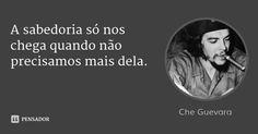 A sabedoria só nos chega quando não precisamos mais dela. — Che Guevara