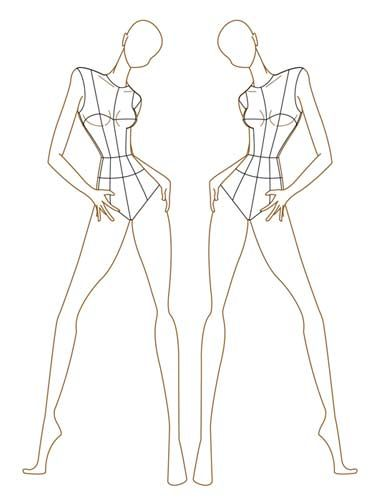 31 best Body Templates images on Pinterest Fashion drawings - fashion designer templates