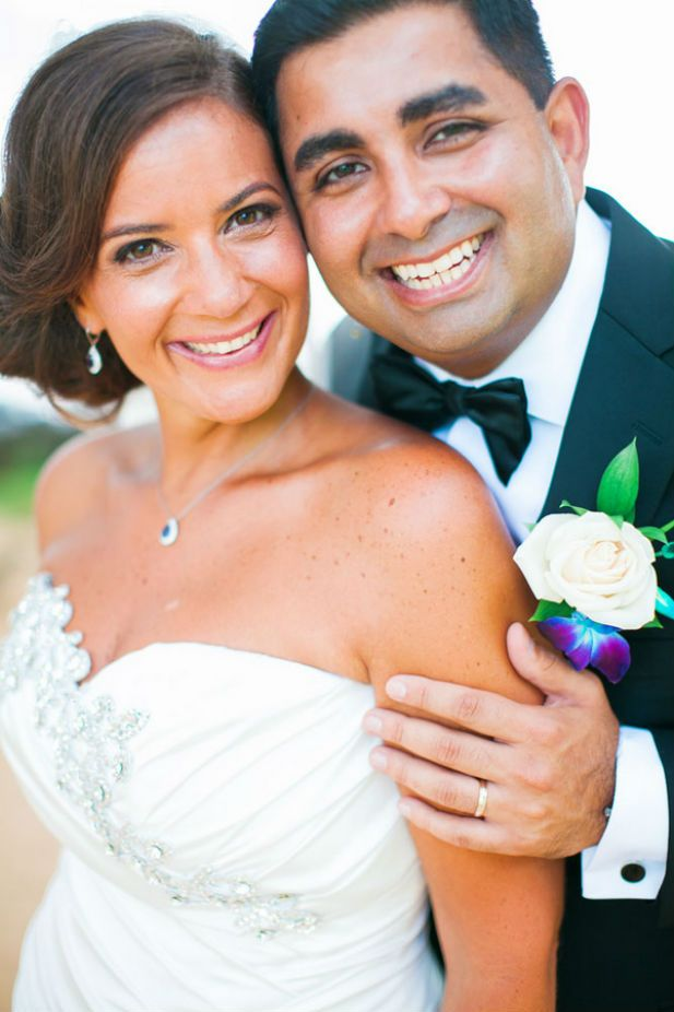 Adorable bride and groom portrait (Photo by Clane Gessel Photography)