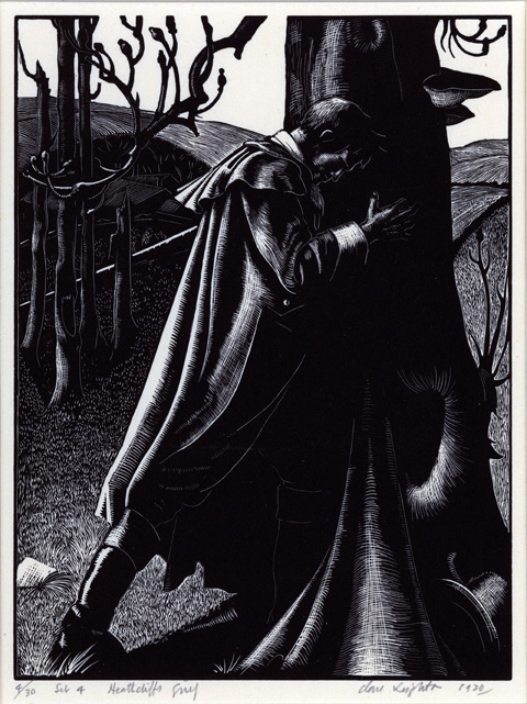 Clare Leighton  English  1900 C1989  Heathcliff  39 s Grief  from the Wuthering Heights series  1930  wood engraving