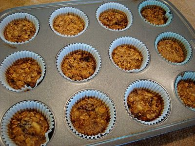 5 ingredient muffins (banana, oats, sugar, baking soda and vanilla) that are GF and Vegan for the little Samster and all his allergies. I doubled the recipe, added an additional cup of oats (blended in the food processor), put in 2/3's the sugar and had a tasty little treat that everyone enjoyed. I love easy things like this that my Sammy can eat too.