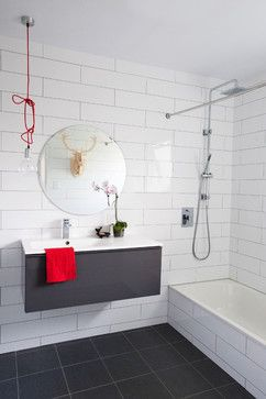 Black, White and Red in the Bathroom