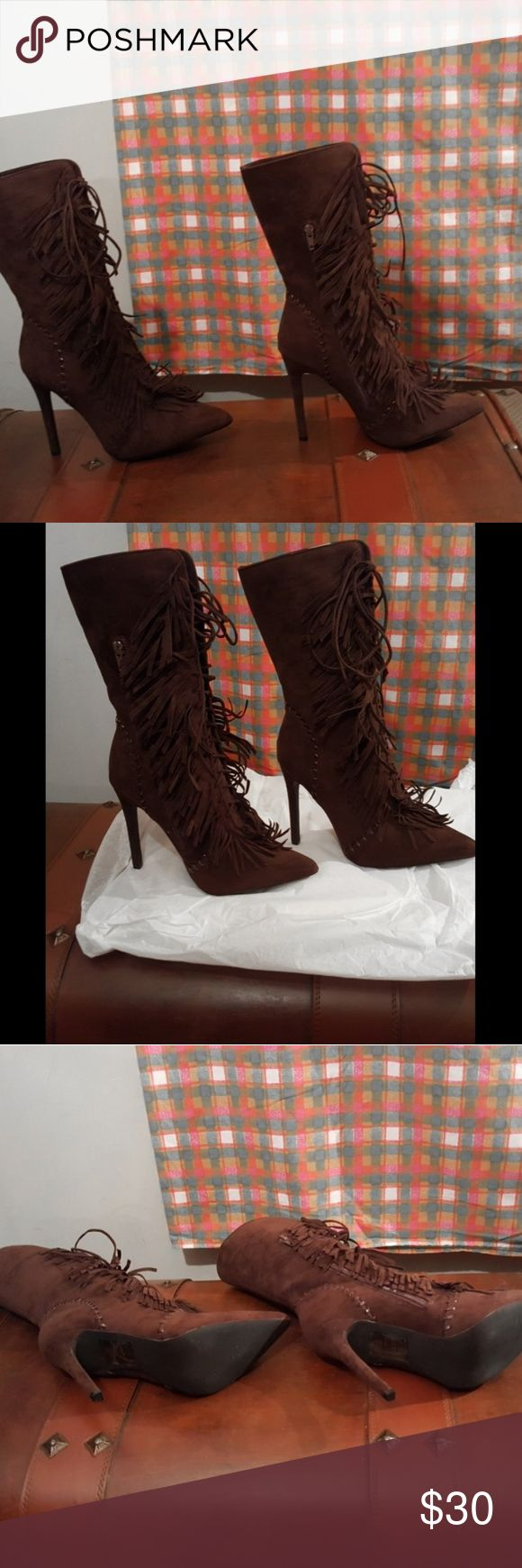 Brown Boots Beautiful  Deep Brown Boots! New never worn Shoe Dazzle Shoes