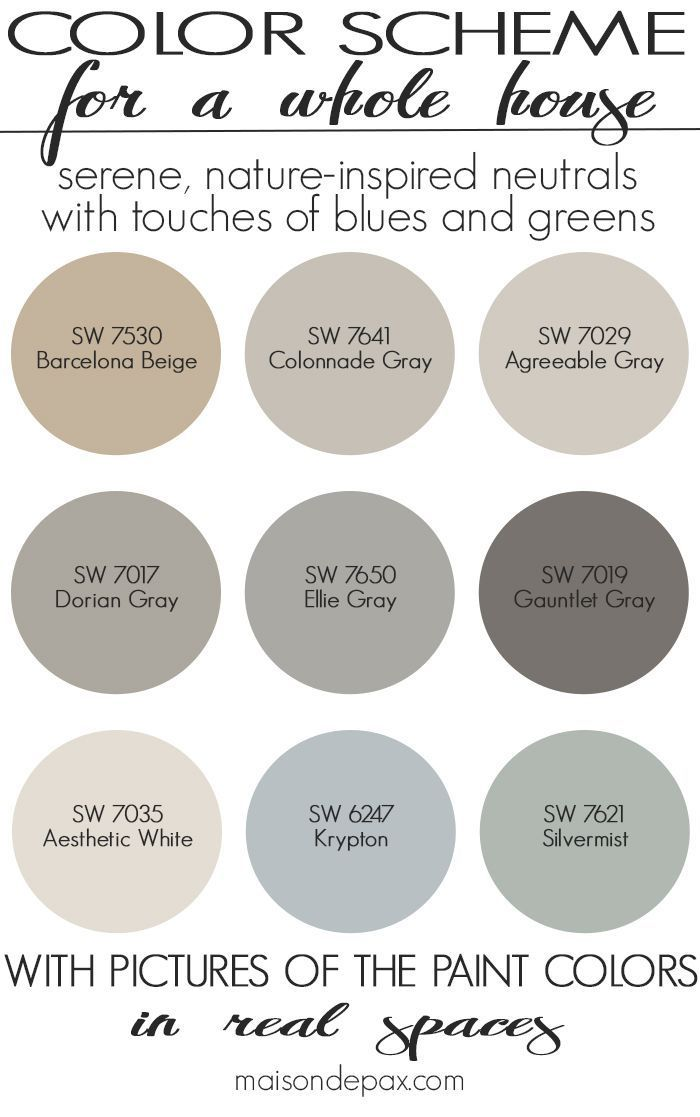 A Color Scheme For A Whole House See Paint Colors In Real Spaces In This Home Tour Full Of Lovely Paint Colors For Home Farmhouse Paint Farmhouse Paint Colors