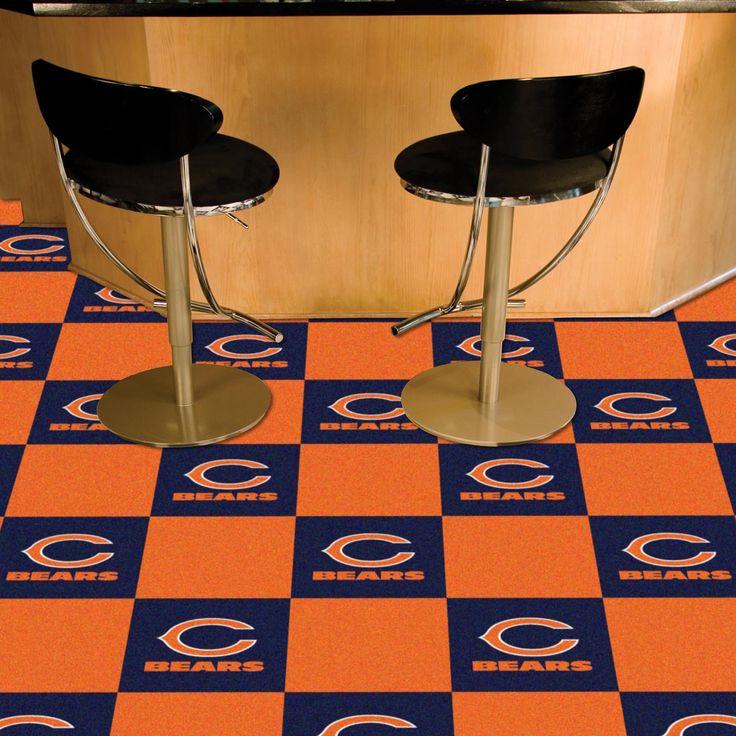 Chicago Bears Carpet Tiles - 20 Ct.