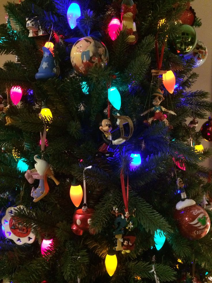 Close-up of some of our Disney ornaments!