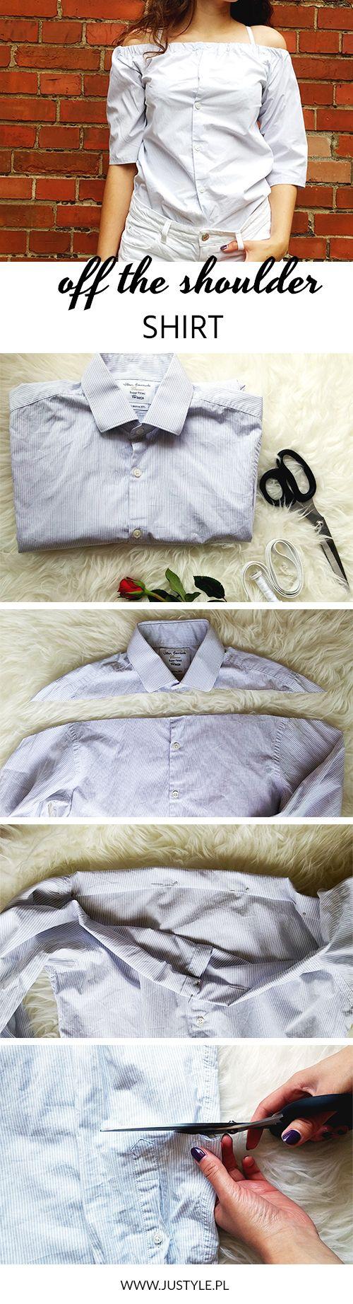 Zobacz prosty tutorial o tym jak zrobić z męskiej koszuli modną bluzkę off the shoulder.   3diy 3offtheshoulder