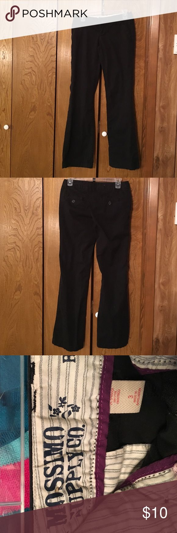 Mossimo black khakis Mossimo black khakis. Size 3. Only wore a few times Mossimo Supply Co Pants