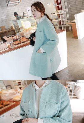 Open Front Pastel Coat
