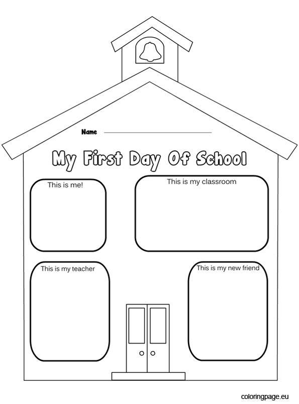 school coloring pages for kindergarten - photo#11