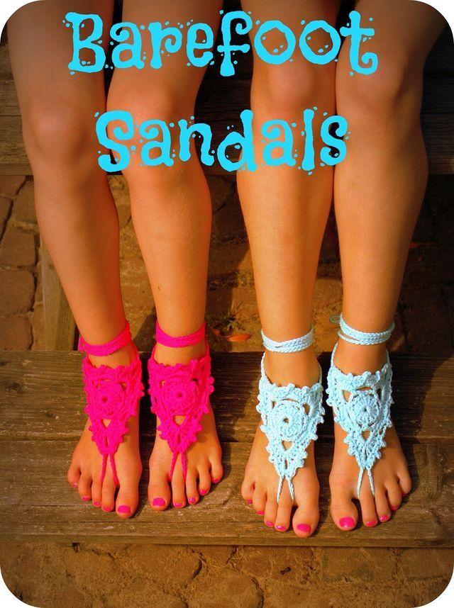 Blote voeten sandalen / Barefoot Sandals | Link to pattern in blogpost