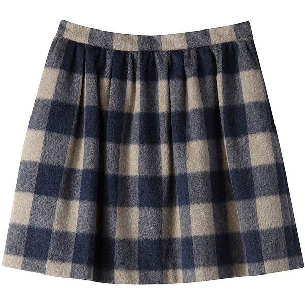 【ELLE SHOP】マイ ダルタニアン|チェックスカート|ファッション通販 エル・ショップ ($235) ❤ liked on Polyvore