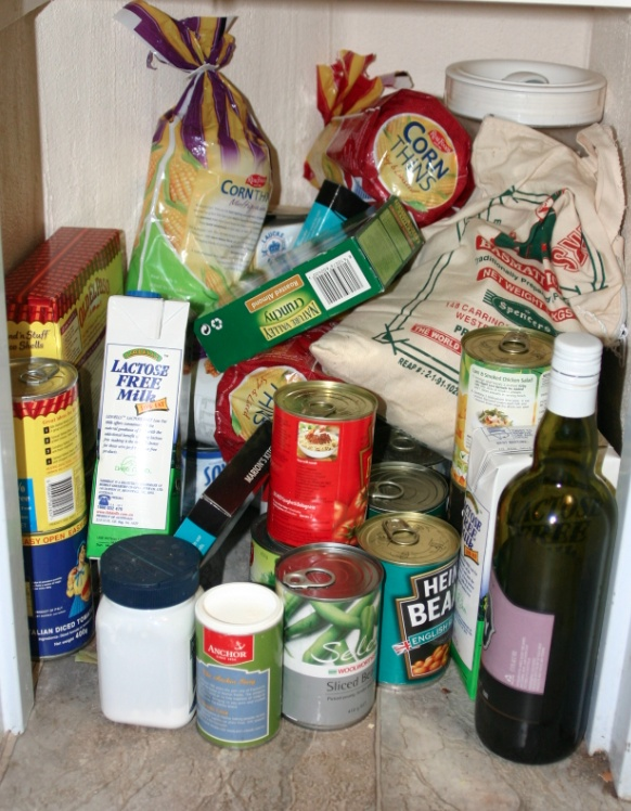 Very messy pantry before Nordic Planning came in and worked the magic