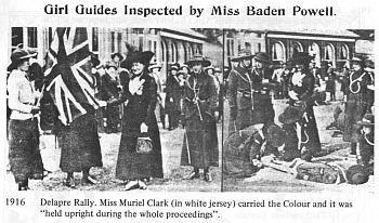 Girl Guides 1916. . . Miss Agnes Baden-Powell attended the Rally at Delapre Abbey