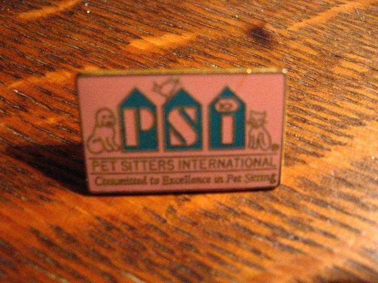 Pet Sitters Lapel Pin - International Professional Association Cats Dogs PSI Pin