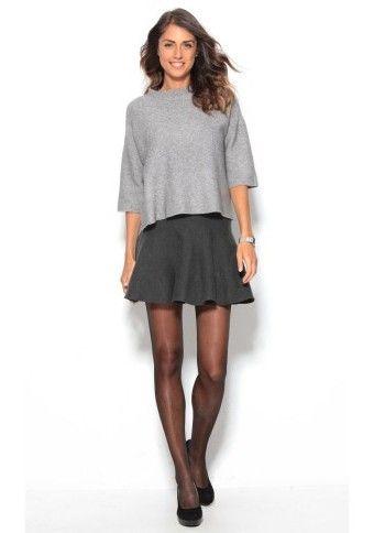 Mini volánová sukně, šedá #ModinoCZ