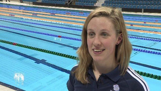 Olympic Team GB member Hannah Miley speaks to BBC reporter Nick Hope after being named on the swimming team for London 2012 and says that she's hopefull that she'll bring some success to the squad.