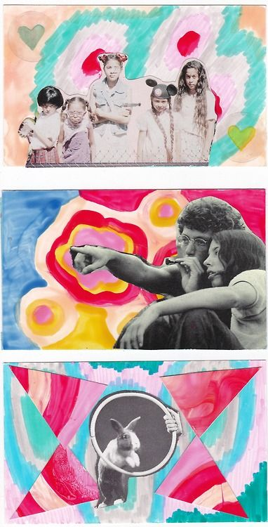 collages by Helen Singer  (top one features photo from ROOKIE magazine)