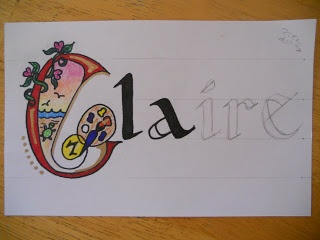 Create Art With Me!: September 2011--illuminated names
