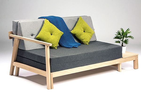 Modern Scandinavian style sofabed - great for small places. #sofa #bed #furniture #YankoDesign
