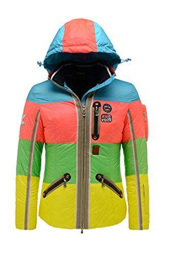B0GNER Winter Ski Women Neah-D Down Outdoor Winter Ski Jacket Blue S