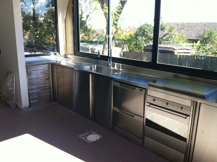 Full stainless steel kitchen with built in appliances