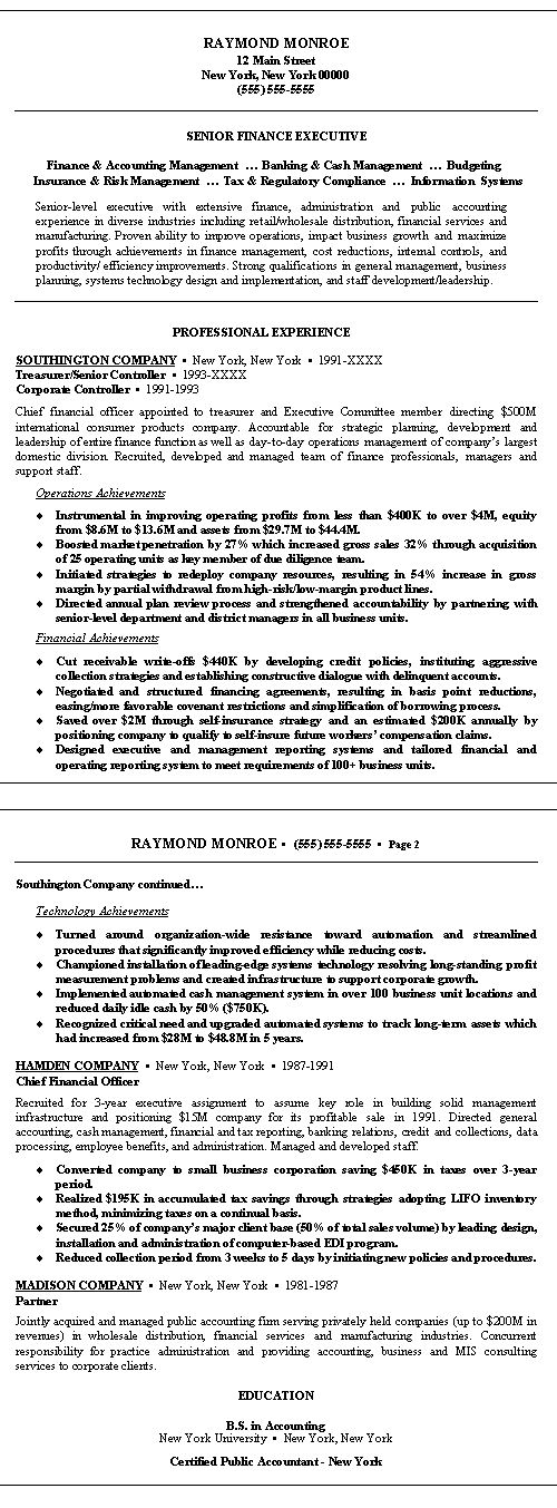 Example Resume Template View Sample Federal And Writing