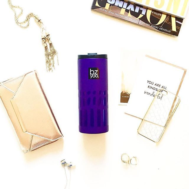 Glam travel essentials 💜 love the purple with gold...so in vogue right now #glam #travel #traveling #coffee #tea #vogue #bag #purse #cool #beautiful #beautiful #beauty #byronbay #paris #purple #gold #rosegold #bzyoo #homewares #cool #inspiration #love #design #decor #homedecor #love