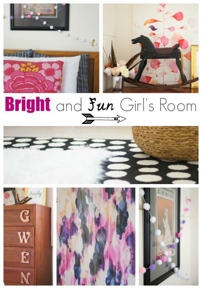 Bright and Fun Girl's Room - Up to Date Interiors