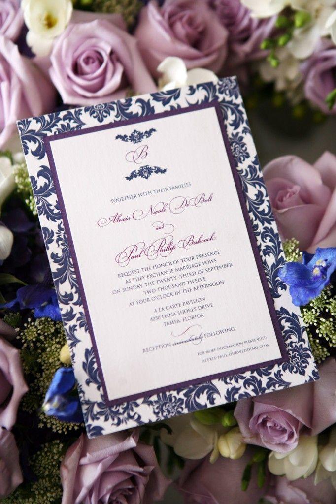 Blue and Lavender Vintage A La Carte
