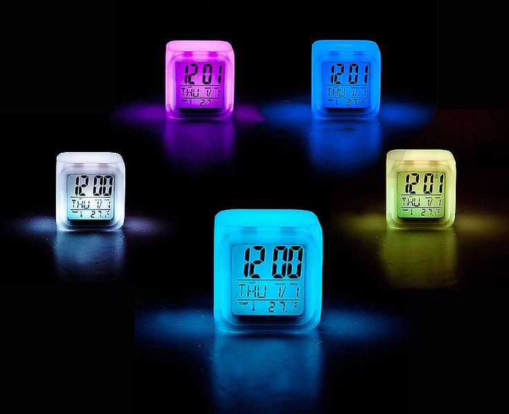 [바보사랑] 불꺼도 너무 잘보여요! /시계/조명/디자인/컬러/온도계시계/야광/선물/라이트/특이한시계/전자시계/인테리어/소품Clock/Lighting/Design/ColorThermometer/Glow/Gift/electronic watch/Props/Interior