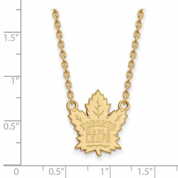 14 Karat gold NHL LogoArt Toronto Maple Leafs Pendant with Necklace