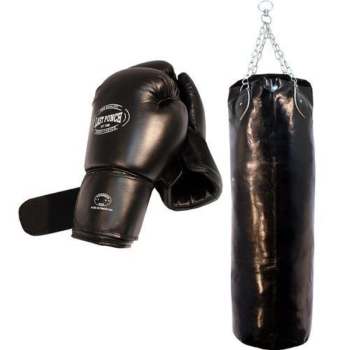 Punching-Bag-Set-Boxing-Gloves-Pair-Sporting-Goods-Hanging-Chains-54 Inch-Adult #LastPunch