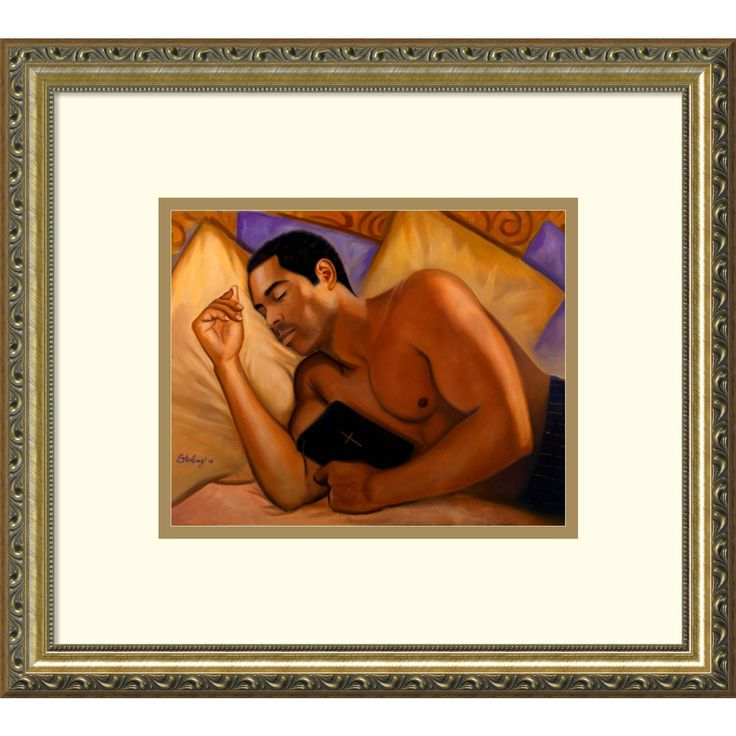 Framed Art Print 'Spiritual Nap Iii' by Sterling Brown 18 x 16-inch