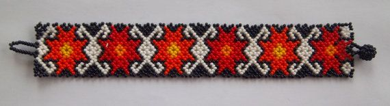 Mexican Huichol Beaded Bracelet by Parakas on Etsy, $19.99