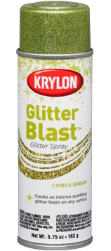 Glitter Spray Paint!?!?! How did I not know about this????