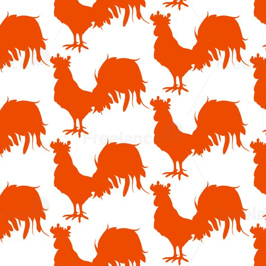 Pattern Red cocks. Buy inexpensive ready vector graphics.