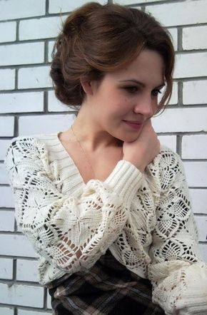 Delicadezas en crochet Gabriela: Suèter chalecos boleros y blusas tejidas