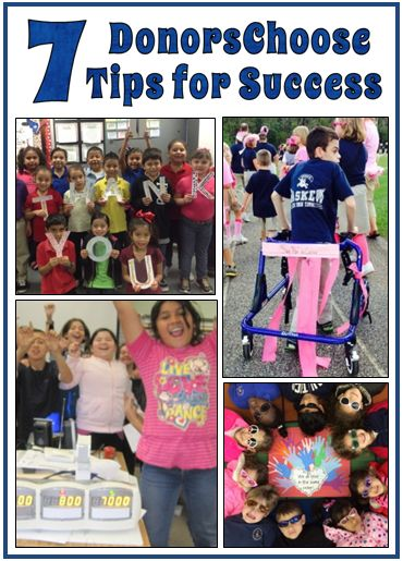 7 DonorsChoose Tips for Success - Guest blog post by Francie Kugelman who has had over 100 projects funded, totaling over $65,000.