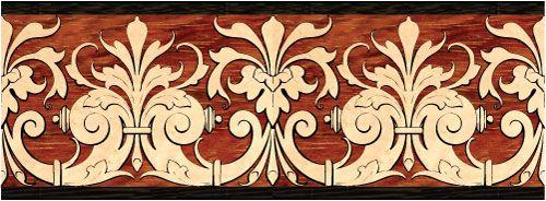 """Revere"" wood flooring inlaid border design. Multiple species, can be sanded and refinished. #border #floorborder #woodfloorborder #woodfloor #wood #woodworking #woodfloordesign #inlay #intarsia #art #design #floor #functionalart #hardwoodfloor #inlaid #marquetry #pattern #parquet #woodinlay"